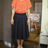 スカートの丈がわかります