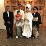 息子の結婚式で